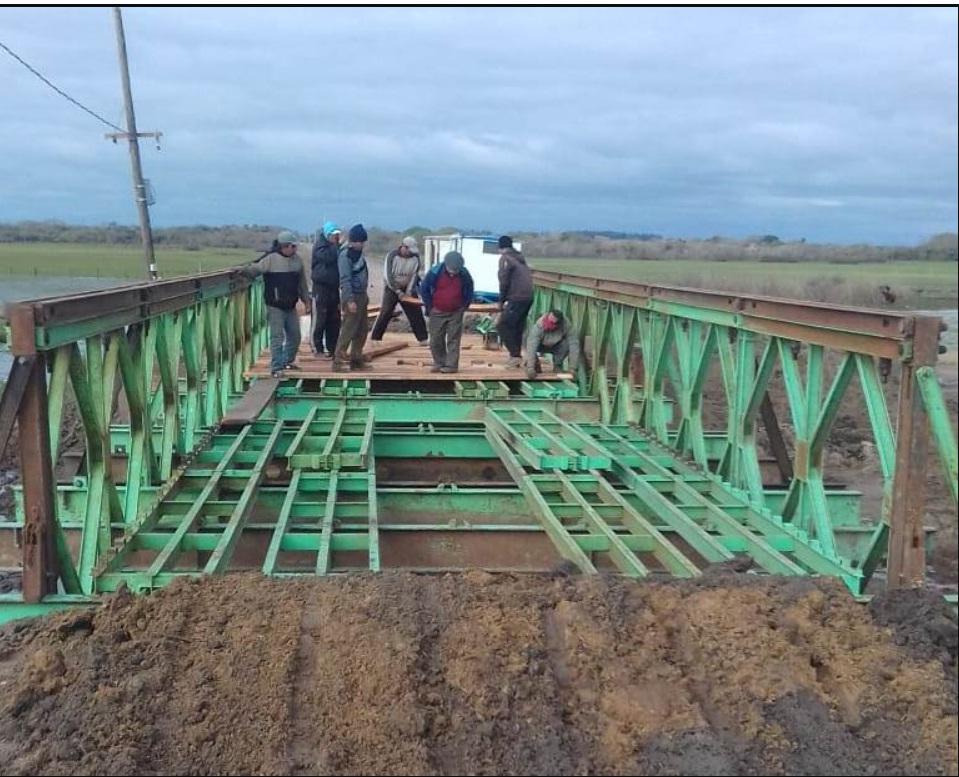 El puente Bailey de San Isidro se encuentra habilitado