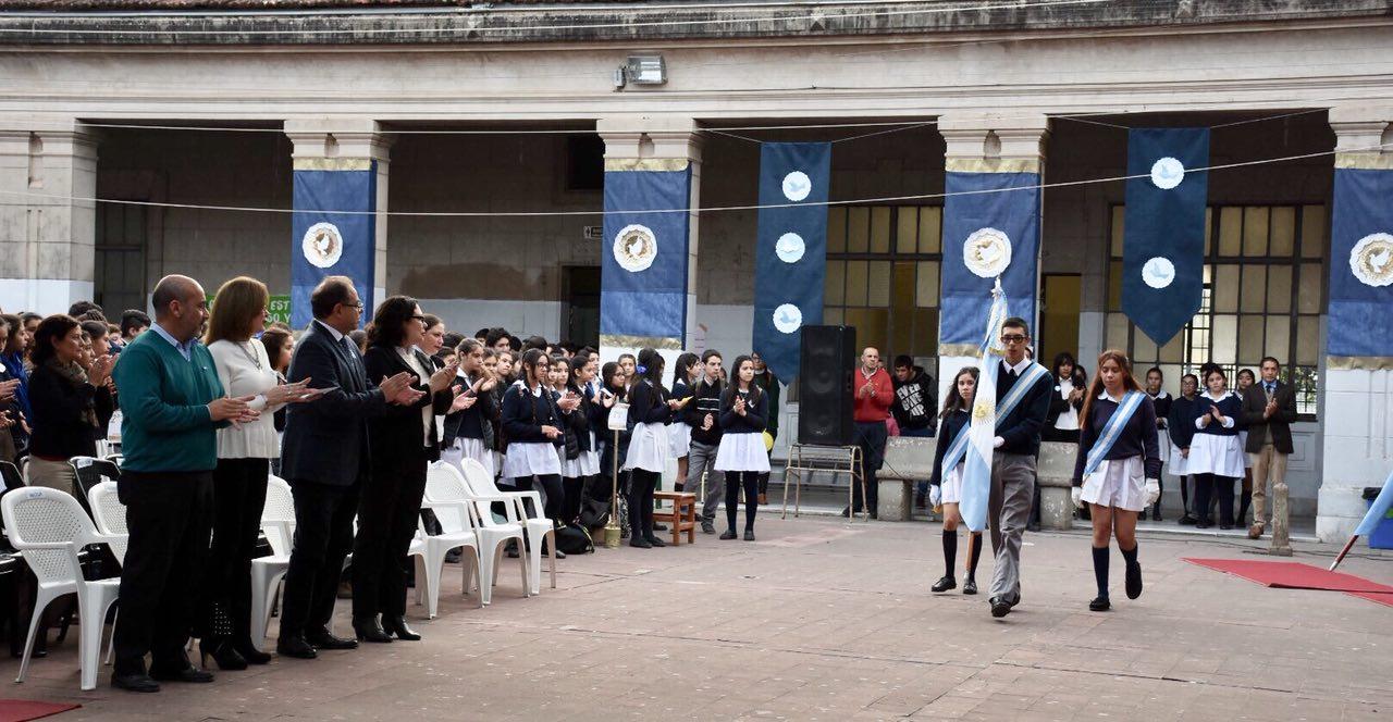 Tassano participó del acto por el Día de la Independencia en la Escuela Belgrano