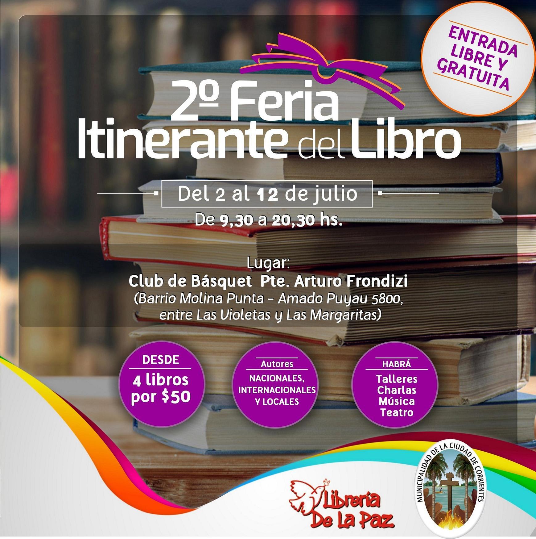 Este lunes, la Feria del Libro Itinerante llega al barrio Molina Punta