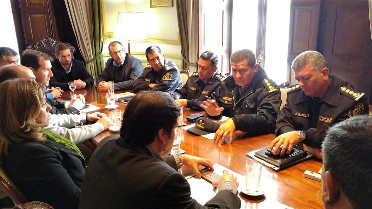 Provincia y municipio coordinan acciones para mejoras en materia de seguridad