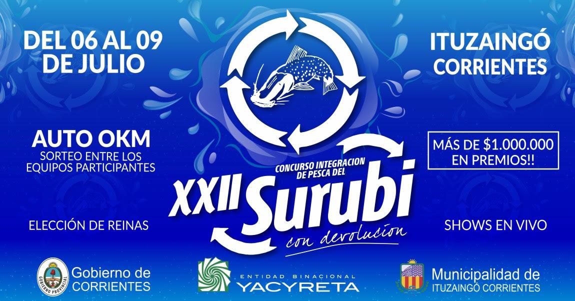 El XXII Concurso Integración de Pesca del Surubí tendrá diversas actividades para toda la familia