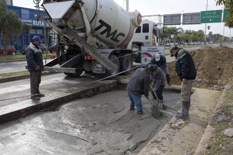 Continúan los trabajos de bacheos en el corredor Manuel Belgrano