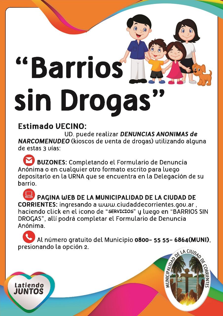 La Municipalidad profundiza acciones preventivas contra el narcotráfico
