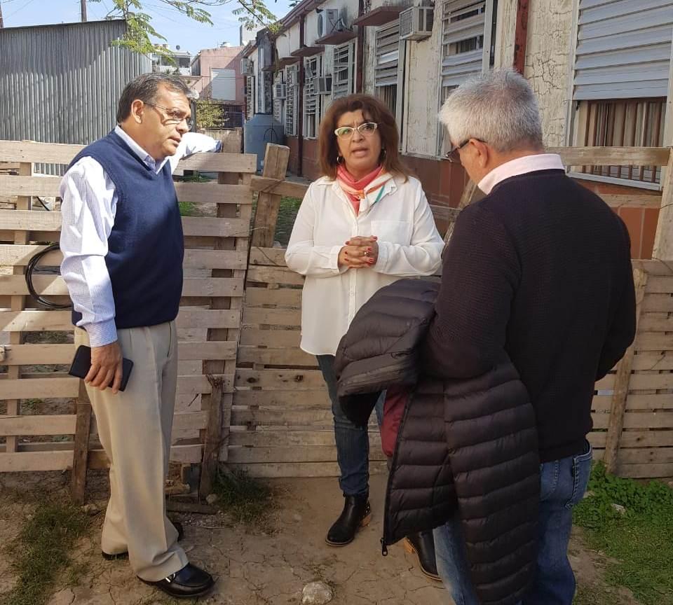 El Ministro Cardozo recorrió obras en el hospital Llano
