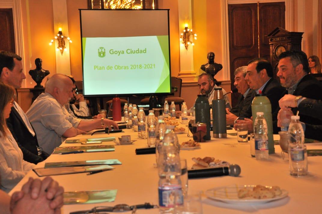 El intendente Osella le presentó a Valdés un Plan de Obras 2018-2021 para Goya