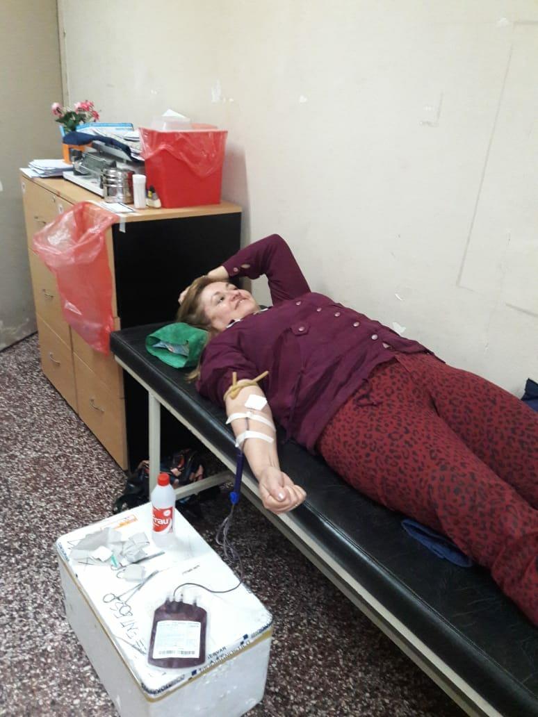 El Banco de Sangre Central realizó una colecta externa de sangre