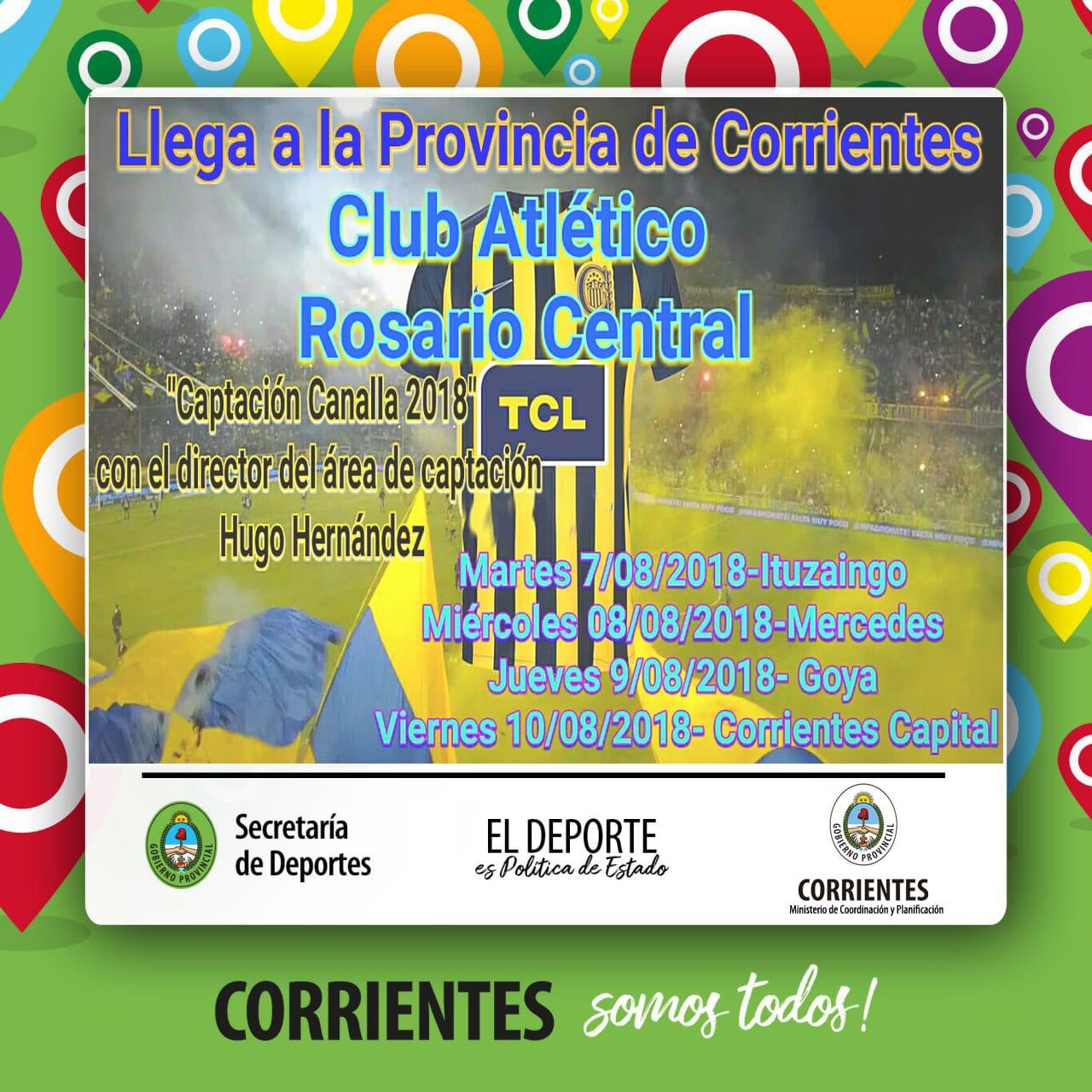 El Club Atlético Rosario Central detectará talentos en Capital y en el Interior