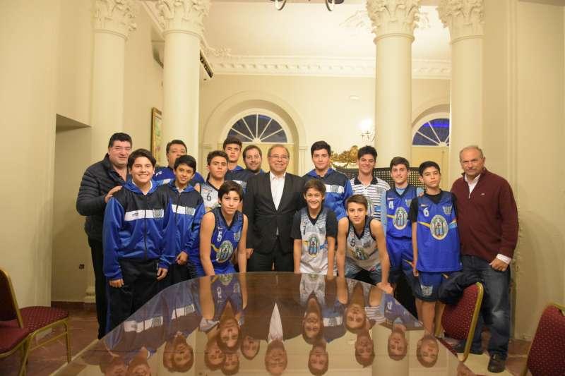 Tassano y Lanari recibieron a integrantes de la Selección U13 de Capital