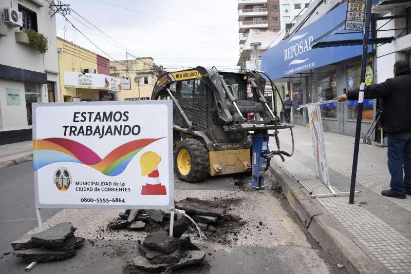 Bacheos y recuperación de calles de la ciudad