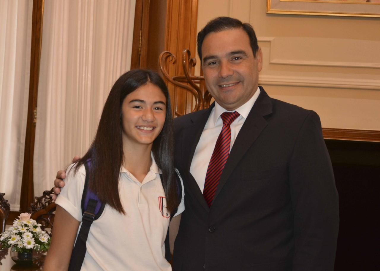 Valdés recibió a la múltiple campeona de pádel, Eunice Gauna Badaró