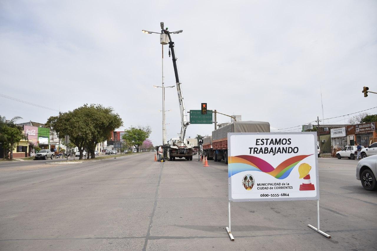 La Municipalidad repara el sistema de iluminación en el corredor Belgrano