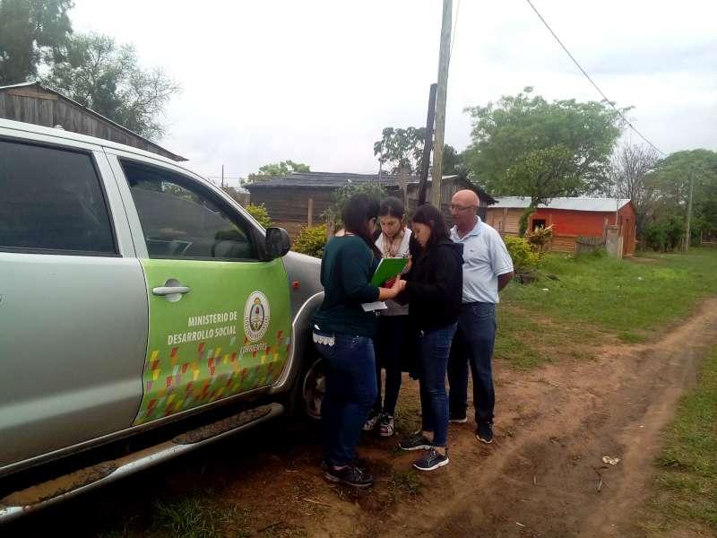 Desarrollo Social realizo relevamientos en Tatacua