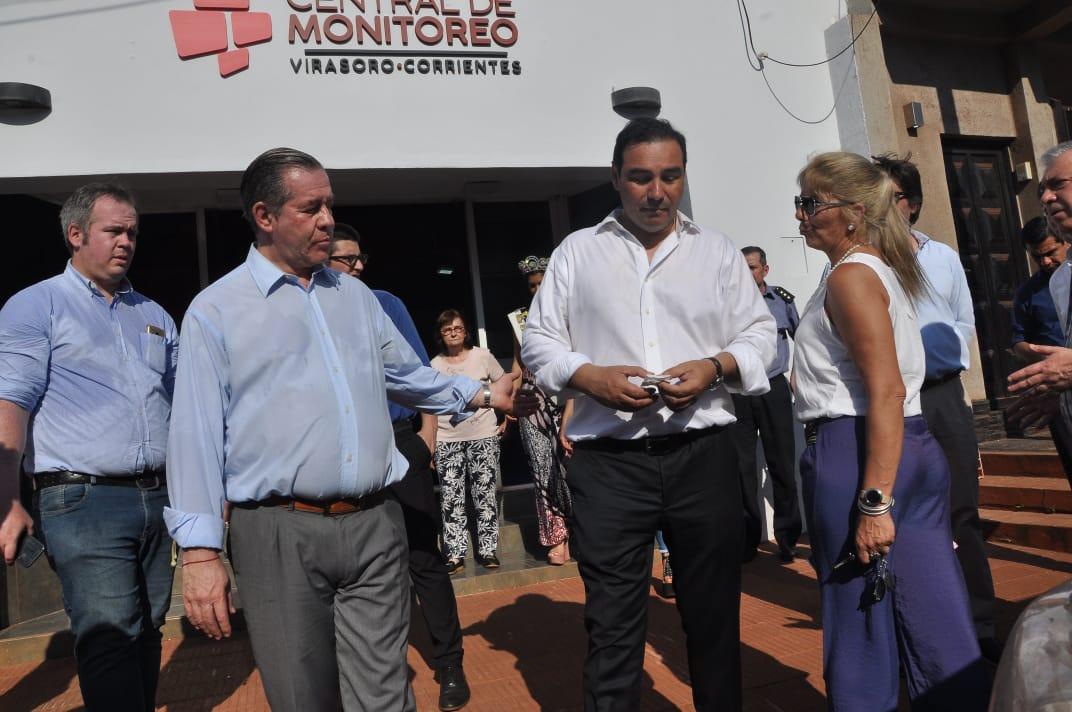 Valdés inauguró la Central de Operaciones y Monitoreo de Virasoro