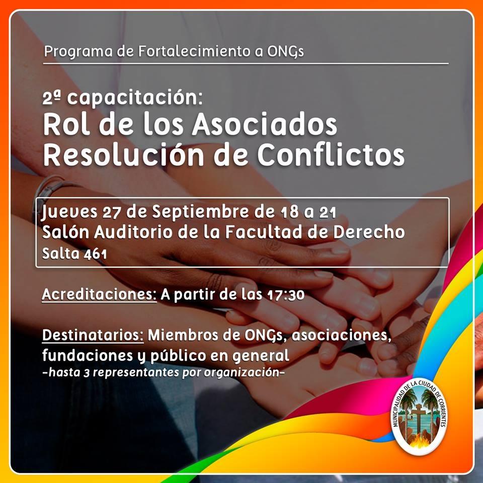 Segunda Capacitación destinada a fortalecer las ONGs
