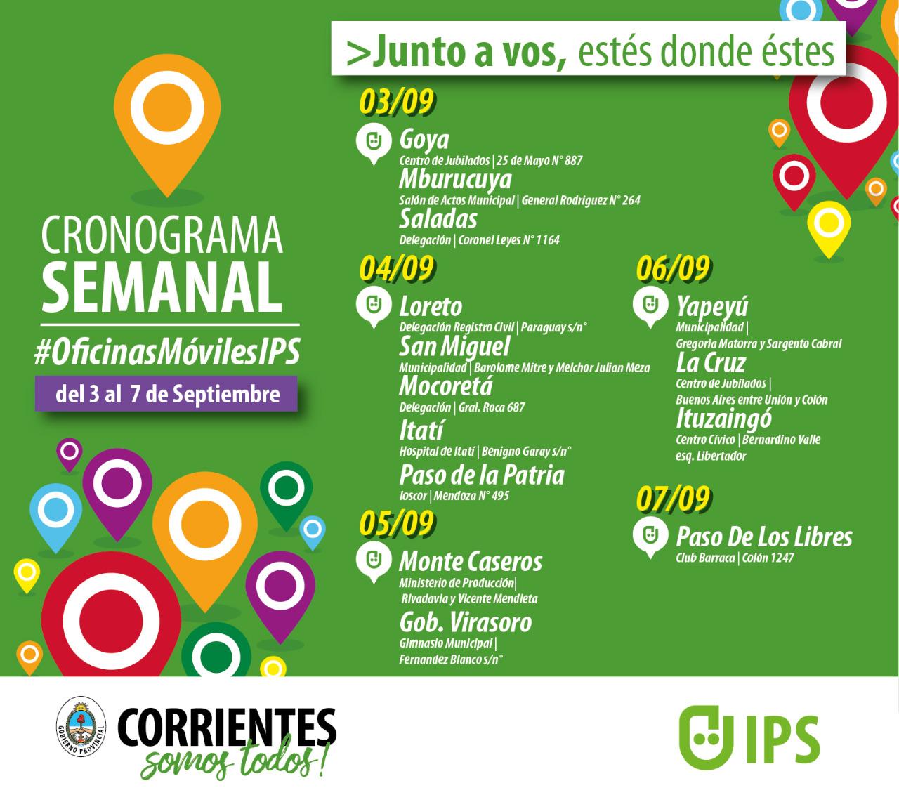 14 municipios recorrerá el IPS esta semana con las oficinas móviles