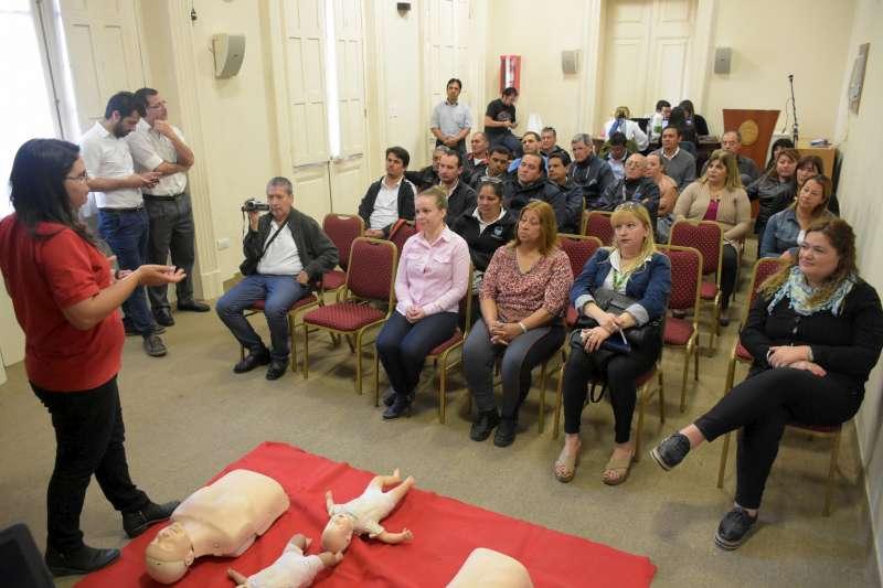 Capacitaron a trabajadores de la Subsecretaría de Transporte en reanimación cardiopulmonar
