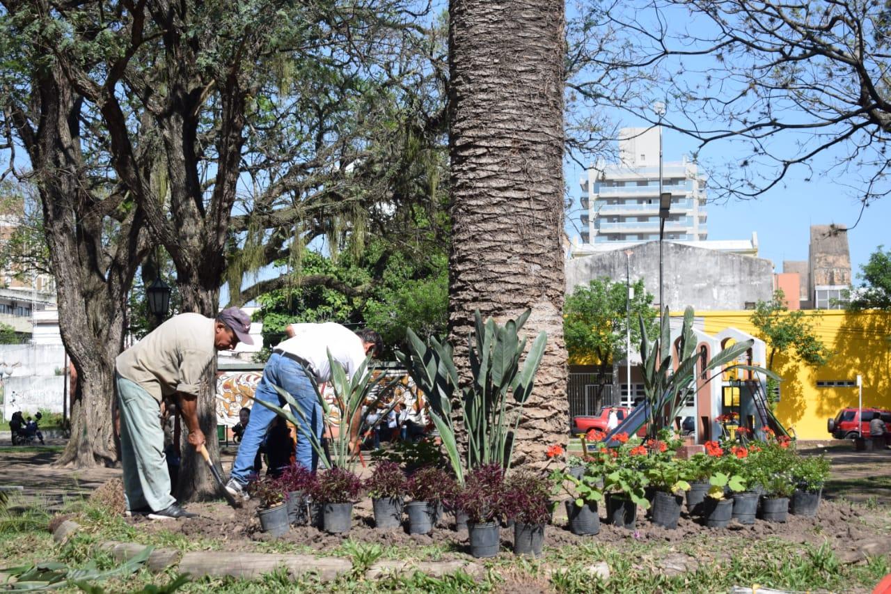 La Municipalidad restaura la plaza Torrent