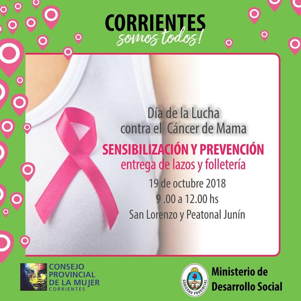 19 de Octubre Día Mundial contra el cáncer de Mamas