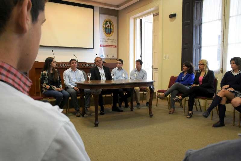 Tassano recibió al Concejo Deliberante Estudiantil