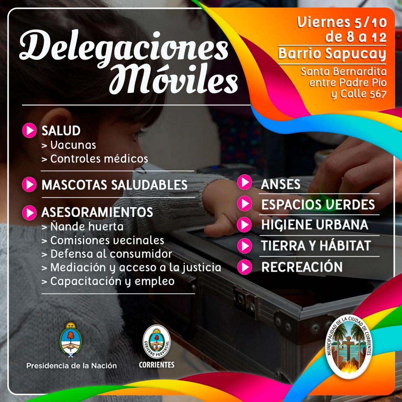 El operativo integral Delegaciones Móviles llega al barrio Sapucay