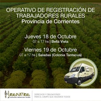 El RENATRE realizará operativos de registración para trabajadores rurales en Corrientes