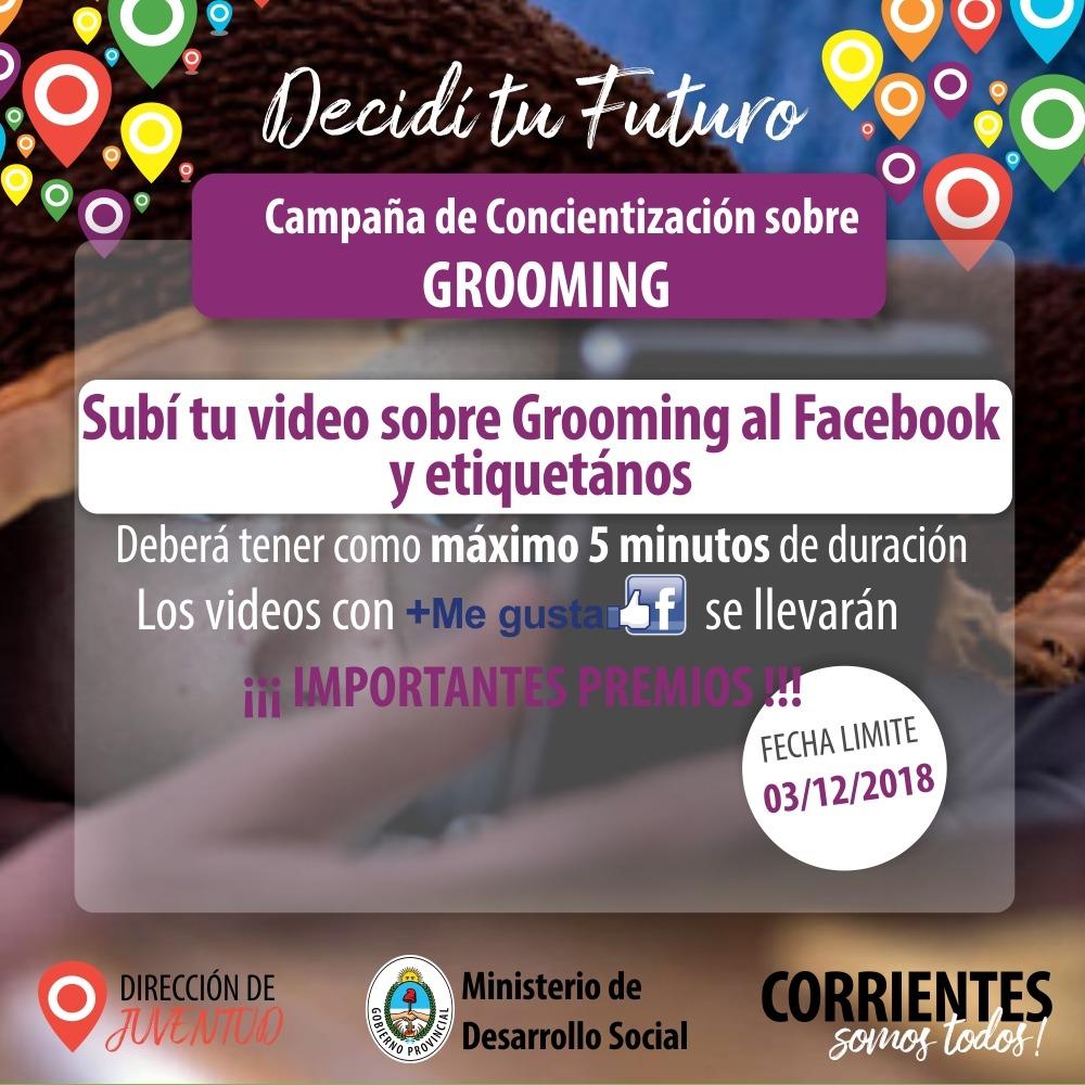 Promueven un Concurso de videos en redes para sensibilizar sobre el grooming y el acoso callejero