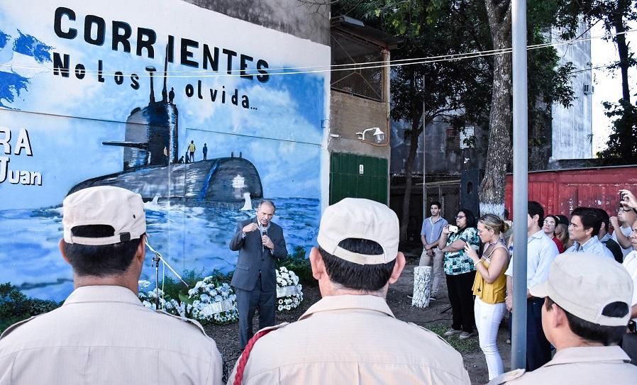 Emotivo acto al inaugurar la plazoleta ARA San Juan