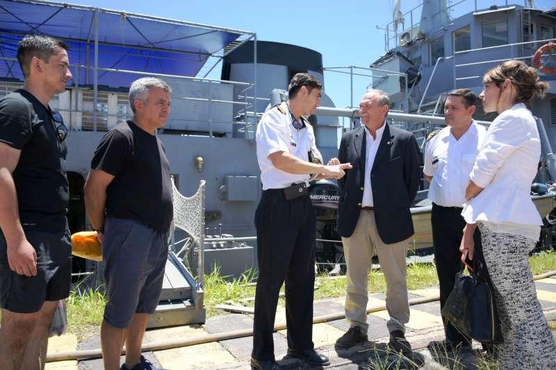 Lanari recibió al buque ARA Ciudad de Zárate