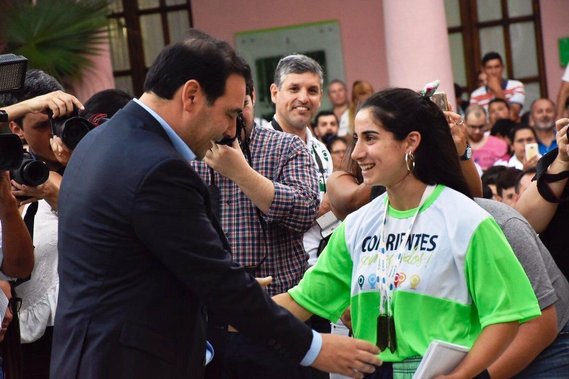 Tassano acompañó a Valdés en el reconocimiento a correntinos que participaron de los Juegos Nacionales Evita