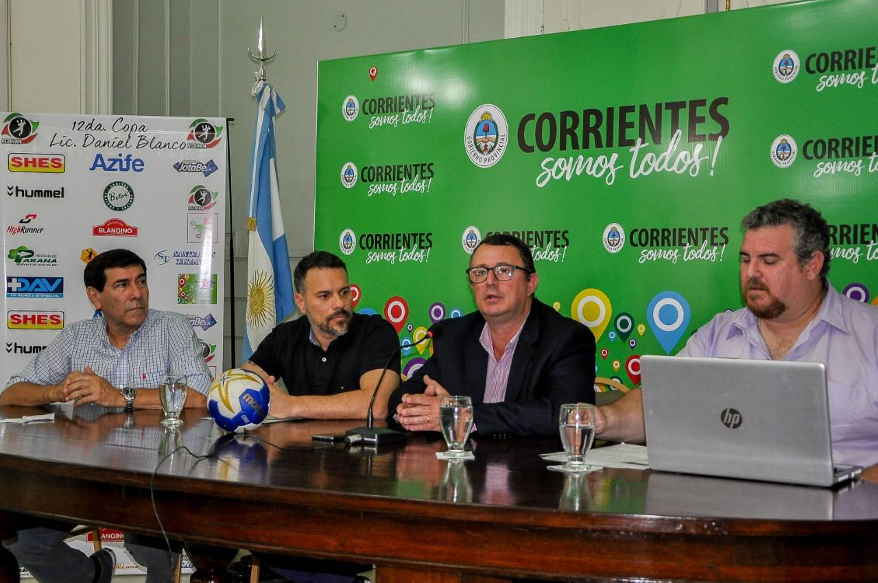 """La """"Copa Daniel María Blanco 2018"""" tuvo su presentación oficial en Casa de Gobierno"""