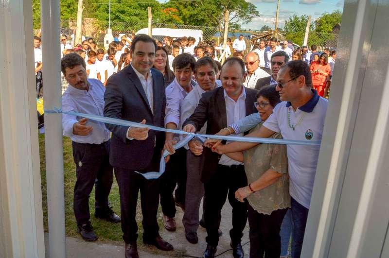 Valdés dejó inaugurado en la localidad de 9 de Julio la Vivienda para Docentes del Colegio Francisco D. Traversaro