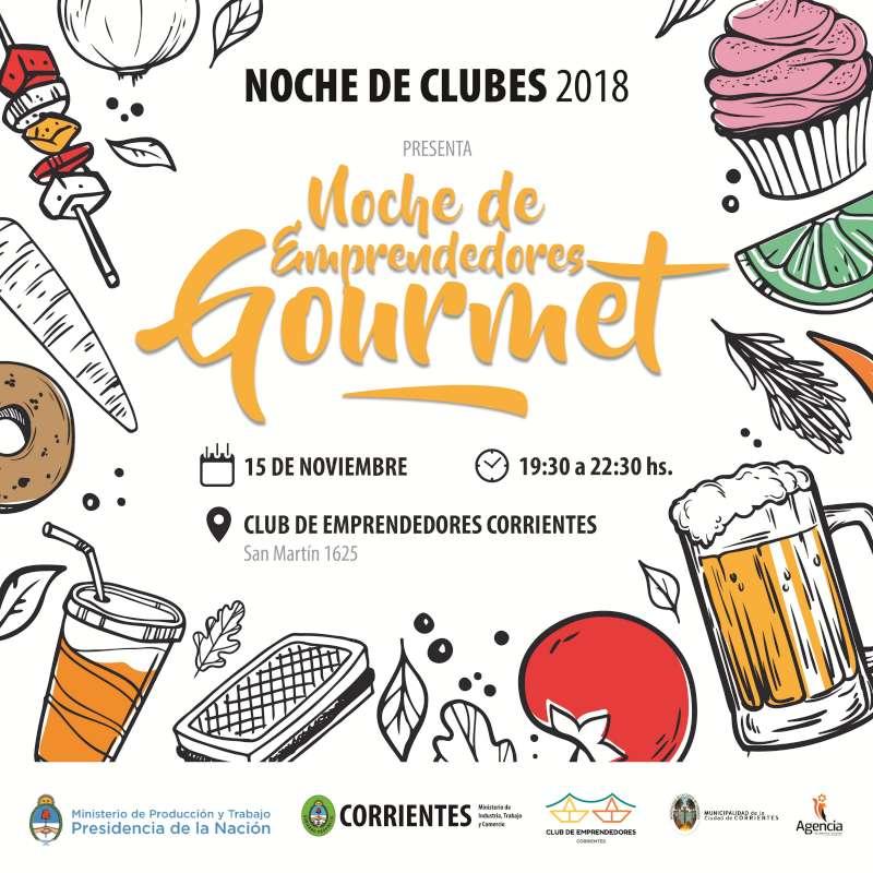 Emprendimientos culinarios exhibirán sus productos en la Noche de Emprendedores Gourmet