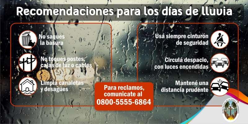 La Municipalidad continúa con diversas acciones ante la posibilidad de lluvias