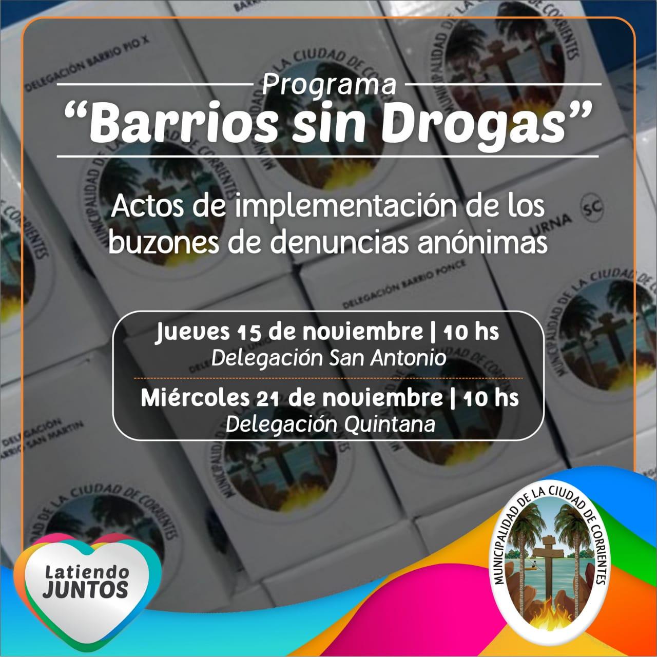 Barrios sin drogas, la Delegación del San Antonio Este sumó un buzón de denuncias anónimas