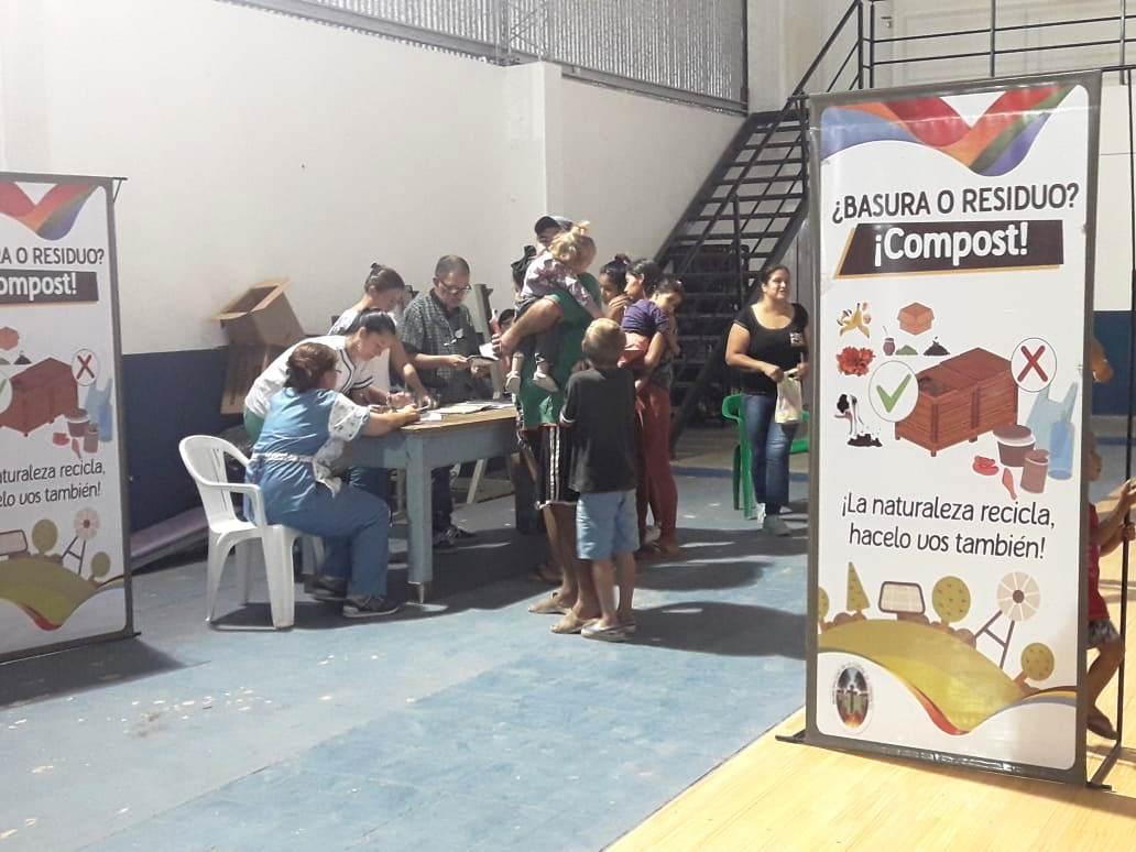 La Municipalidad brindó servicios a ladrilleros en el Molina Punta