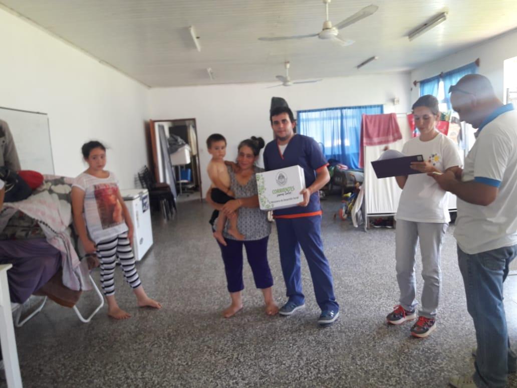 La Provincia realiza relevamiento y entrego recursos en Santa Lucia