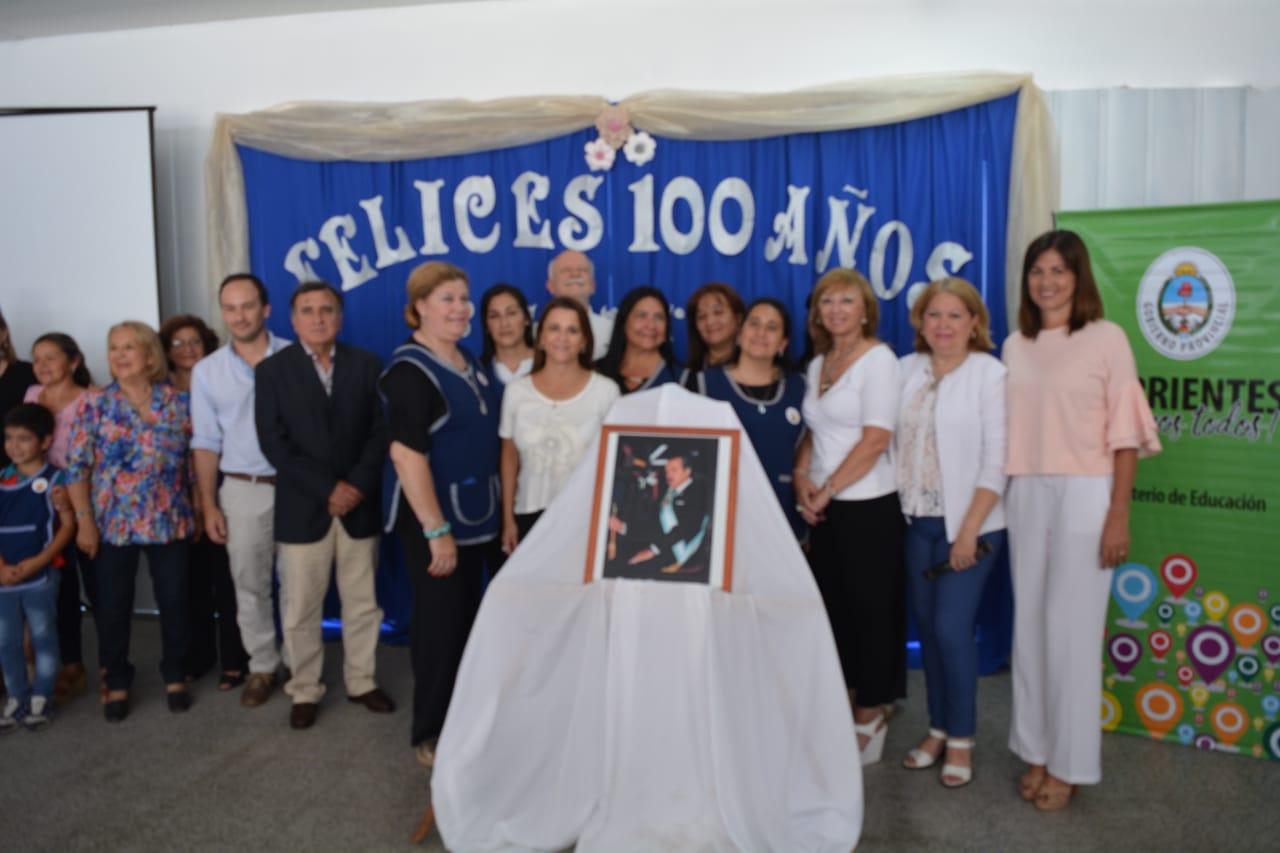 """Celebración del centenario de la Escuela N°485 e imposición del nombre """"Dr Raúl Alfonsín"""""""