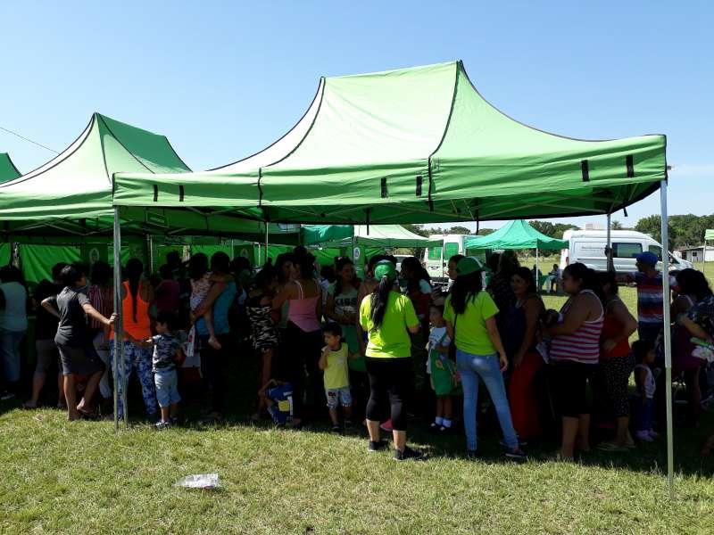 La Provincia realizó un operativo sanitario en el barrio Santa Margarita