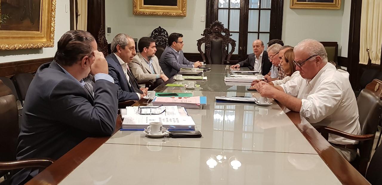 Rivas Piasentini y su equipo brindaron precisiones a los Senadores