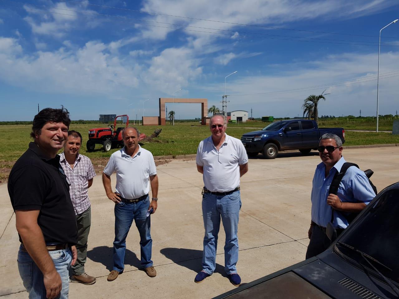 Schiavi recorrió el parque industrial y se reunió con empresarios