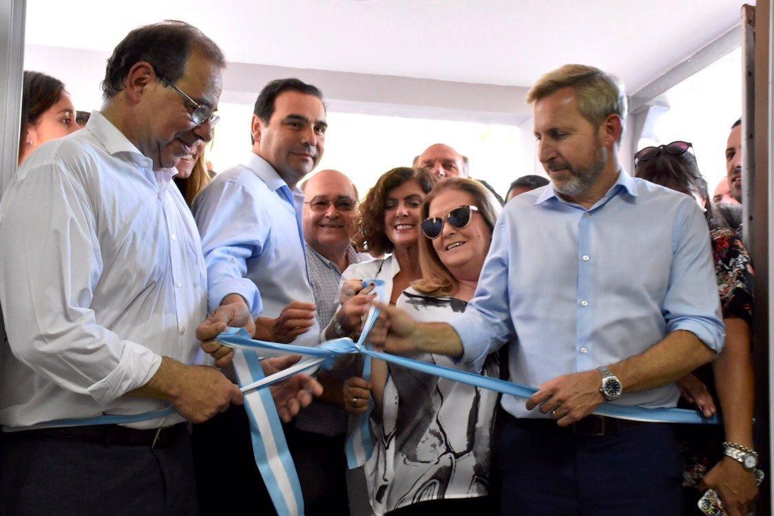 Con Valdés y Frigerio, Tassano inauguró las obras integrales de la SAPS del Virgen de los Dolores