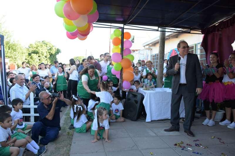 Tassano, en la fiesta de fin de año del jardín municipal del San Marcos