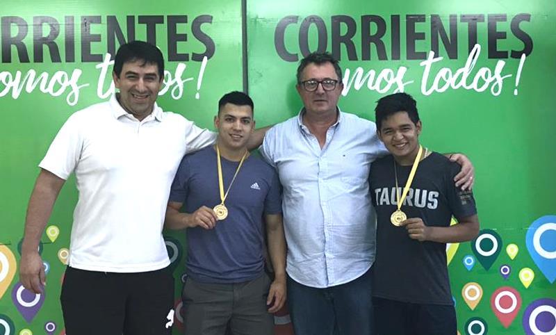 Jorge Terrile recibió a Nahuel Jiménes y a Jonatan Leyes
