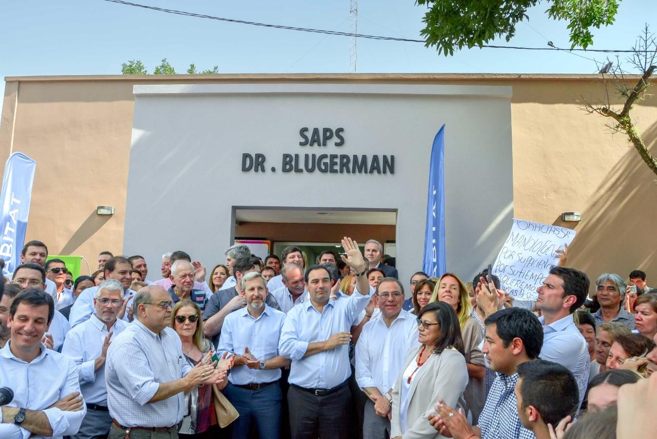 Valdés, Frigerio y Tassano inauguraron obras en el barrio Virgen de los Dolores