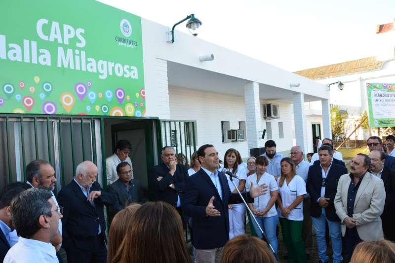 Valdés inauguró refacciones en dos CAPS y anunció nuevo quirófano para el hospital de Goya