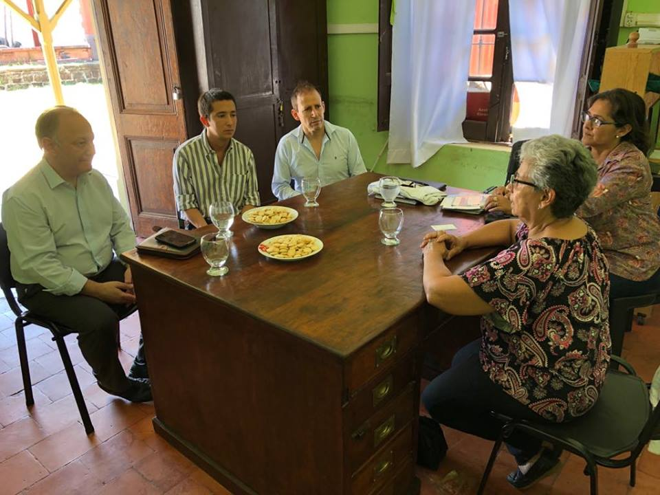 El Defensor del Pueblo realizo una visita institucional al municipio de Felipe Yofre