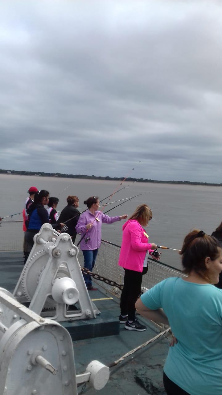 La Fe. Co. Pe y el Consejo Provincial  de la Mujer organizaron un encuentro de Pesca de Mujeres