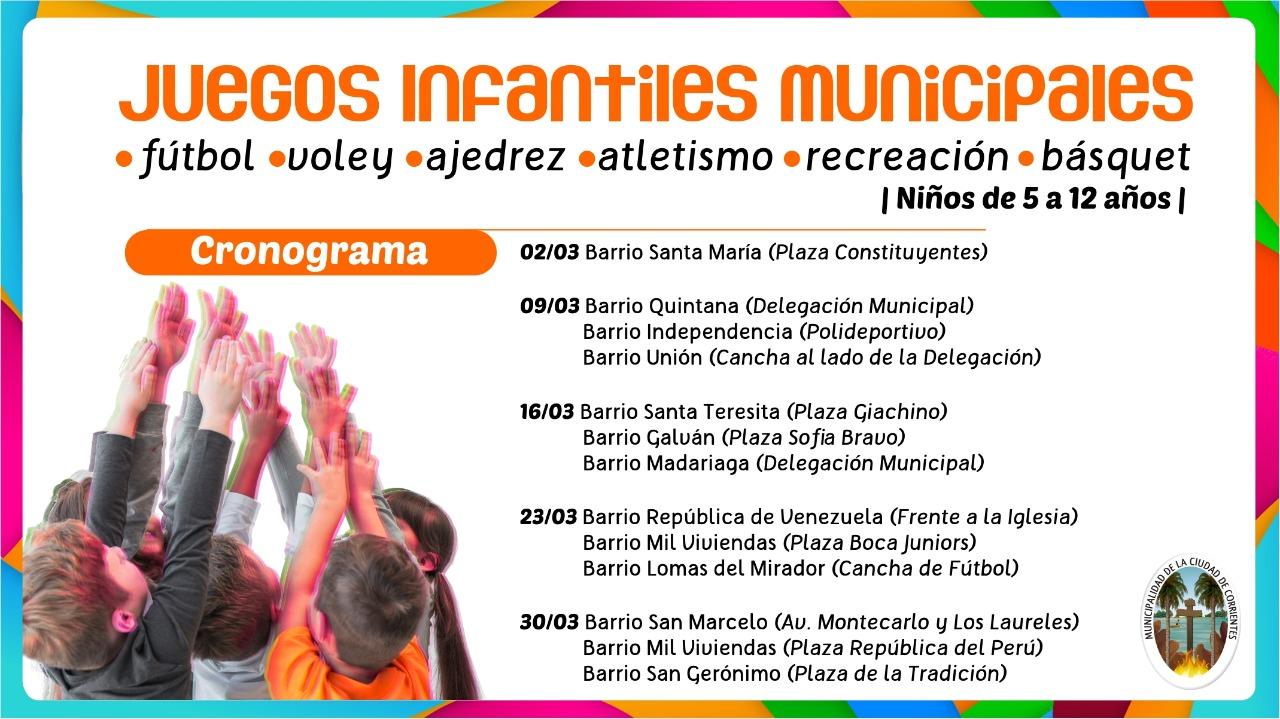 Juegos Infantiles Municipales en el barrio Santa María