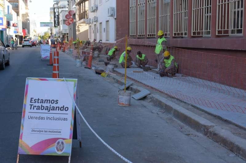 """Sigue avanzando a buen ritmo la construcción de las """"veredas inclusivas"""""""