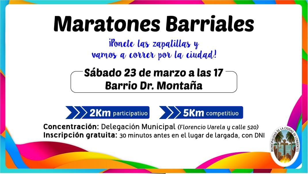 """La Municipalidad presenta una nueva edición del programa """"Maratones Barriales"""""""